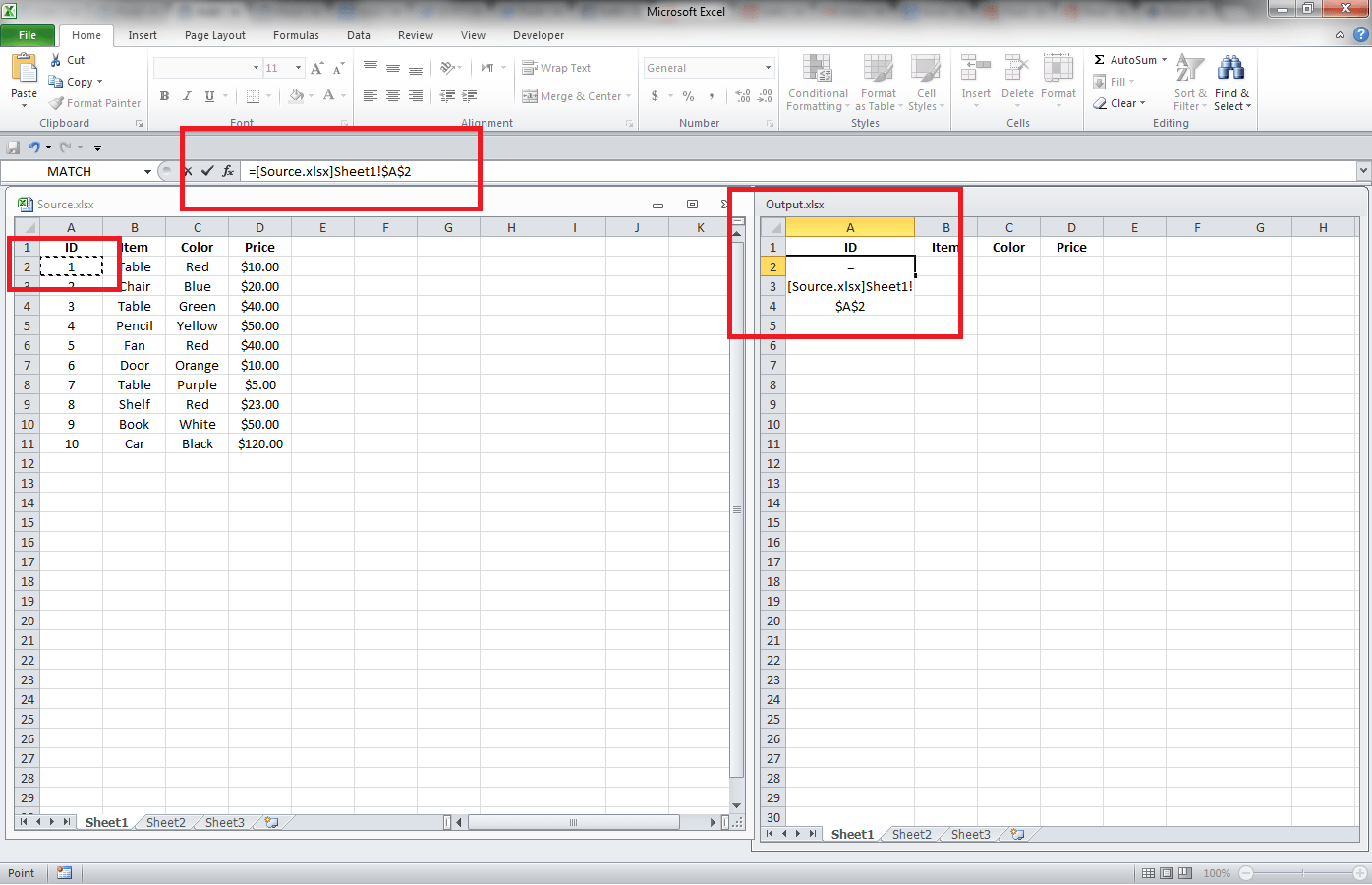 Excel Getting Data From Another Workbook Through Links