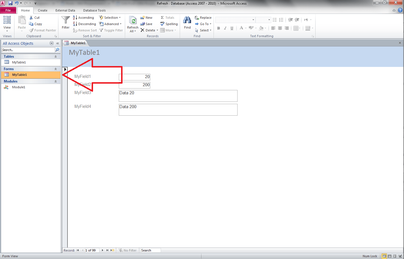 Access Vba Referencing Forms