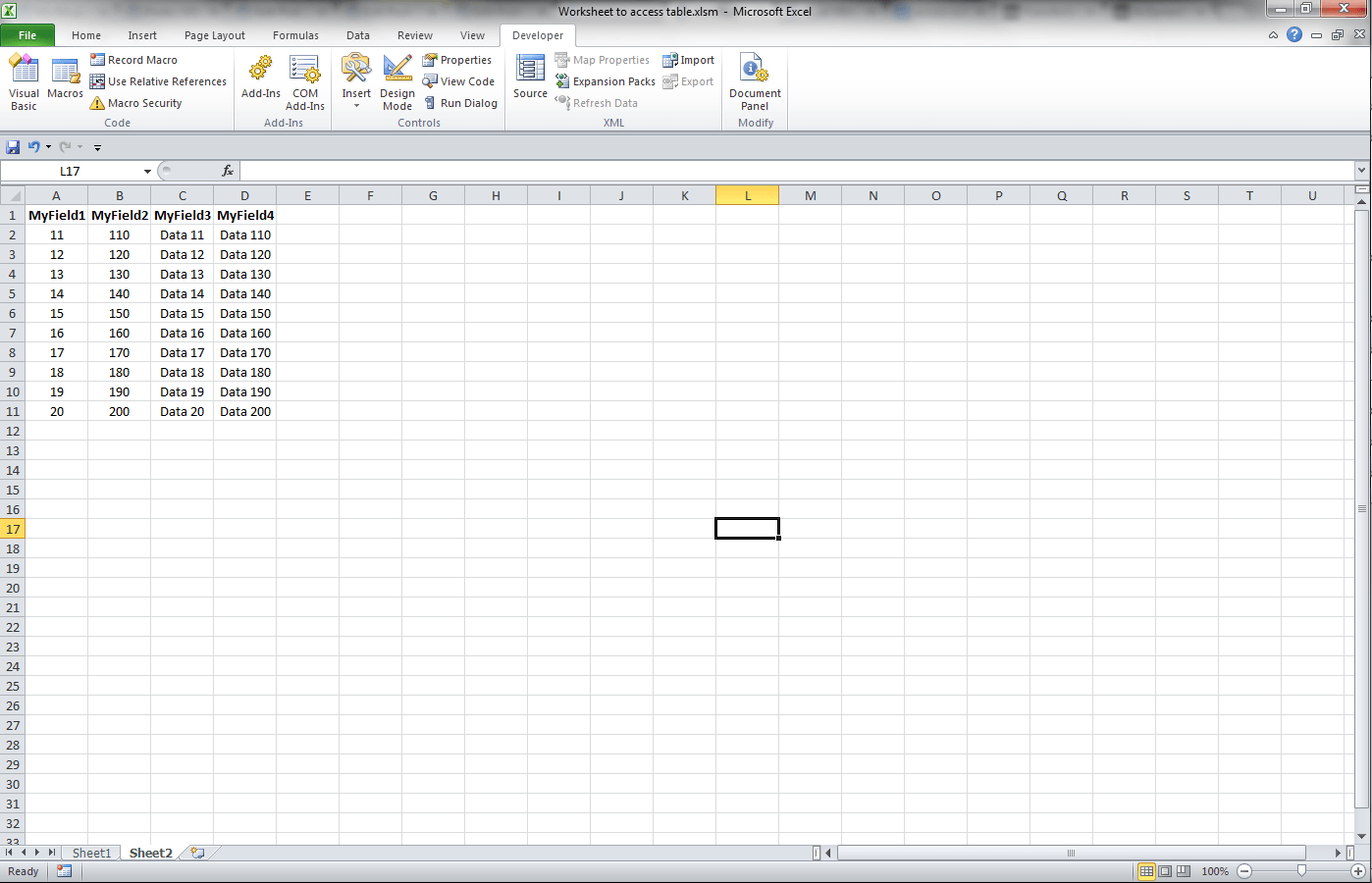 Excel Vba Export Worksheet To Existing Access Table