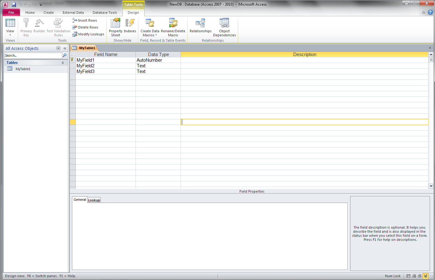 Check If Field Exists Vba Access