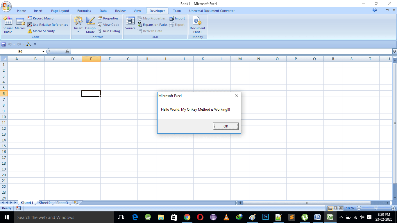 How To Use The Onkey Method In Excel Vba
