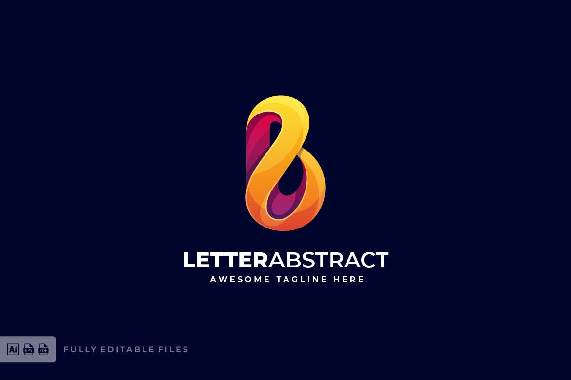 Letter Abstract Colorful Logo Template