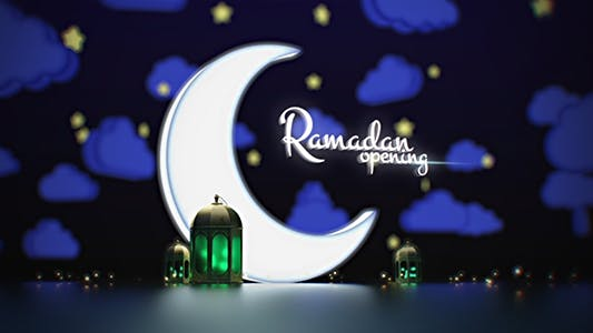 Ramadan Kareem Opening - Lamp Lights - Broadcast - After Effects