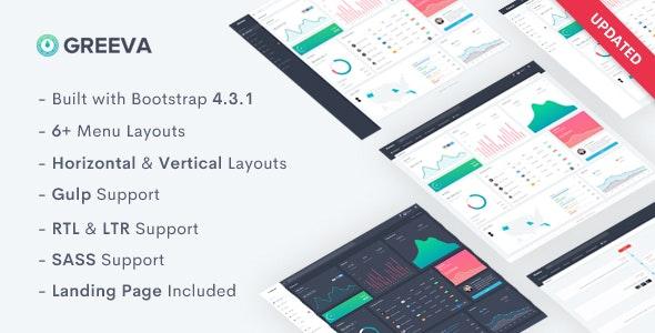 Greeva v2.0 - HTML Control Panel Template