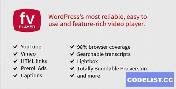 FV Player Pro v7.4.45.727 - WordPress video player plugin