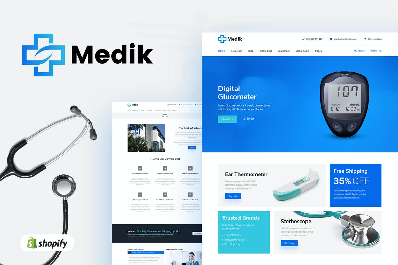 Medik Sectioned Medical Shopify Theme