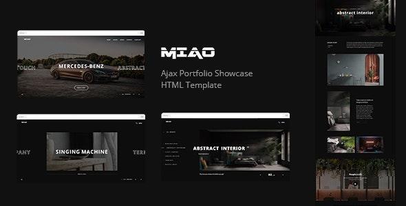 Miao - Ajax Portfolio Showcase HTML Template