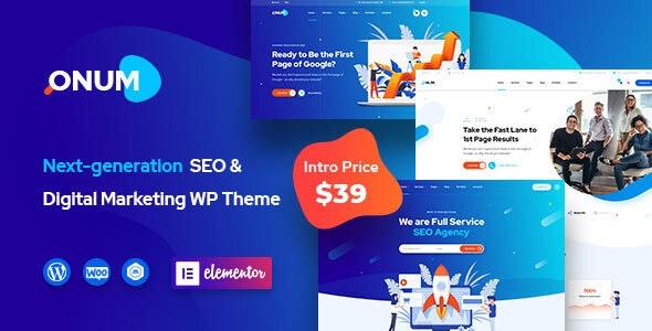 Onum v1.1.2.1 - WordPress Theme for SEO and Marketing