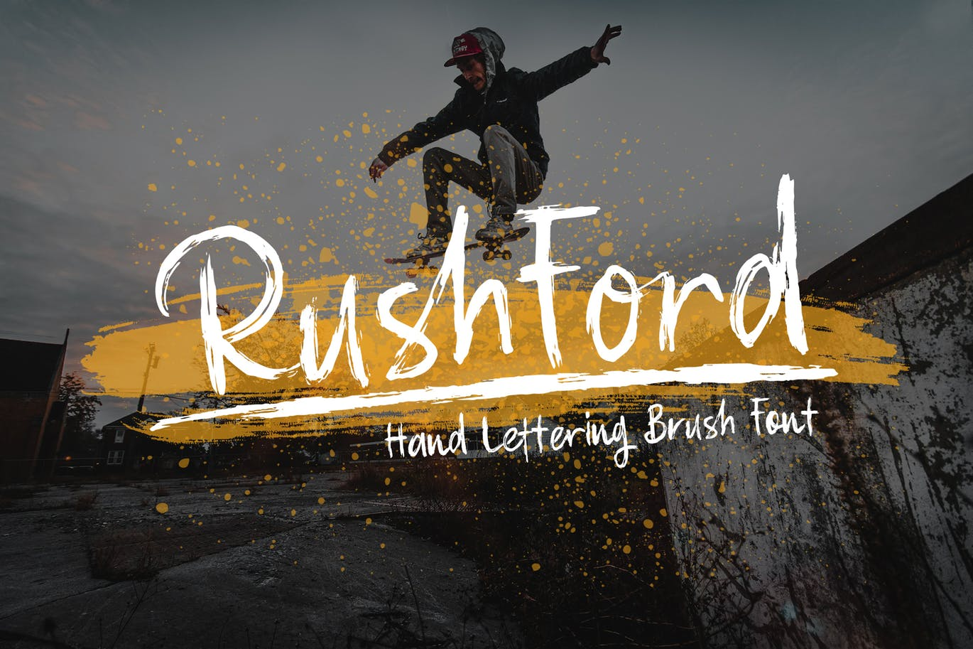 RushFord - Brush Lettering Font