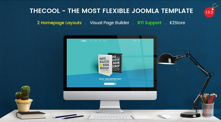 SJ TheCool Pro - Responsive One Page Book Store Joomla Template J3
