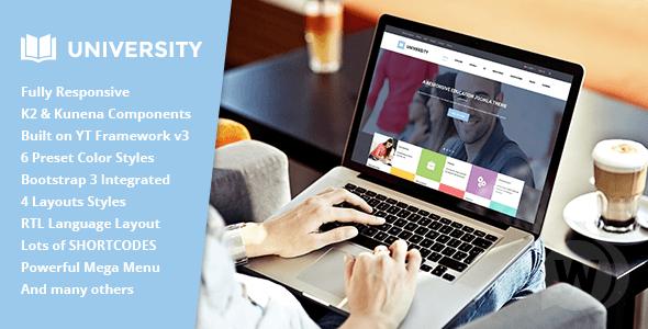 SJ University II - Joomla Education Template
