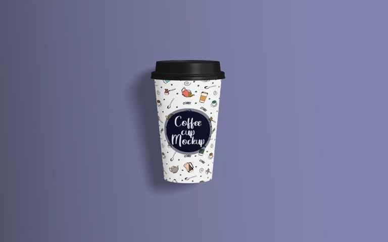 Coffee Cup Mockup Top Angle View