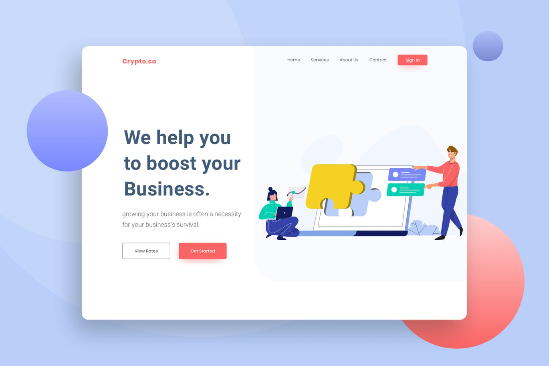 Product strategy Website Header Illustration
