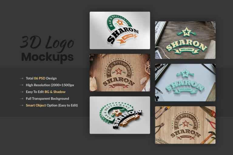 3D Multipurpose Logo Mockups