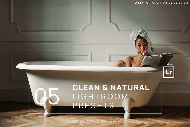 5 Clean & Natural Lightroom Presets + Mobile