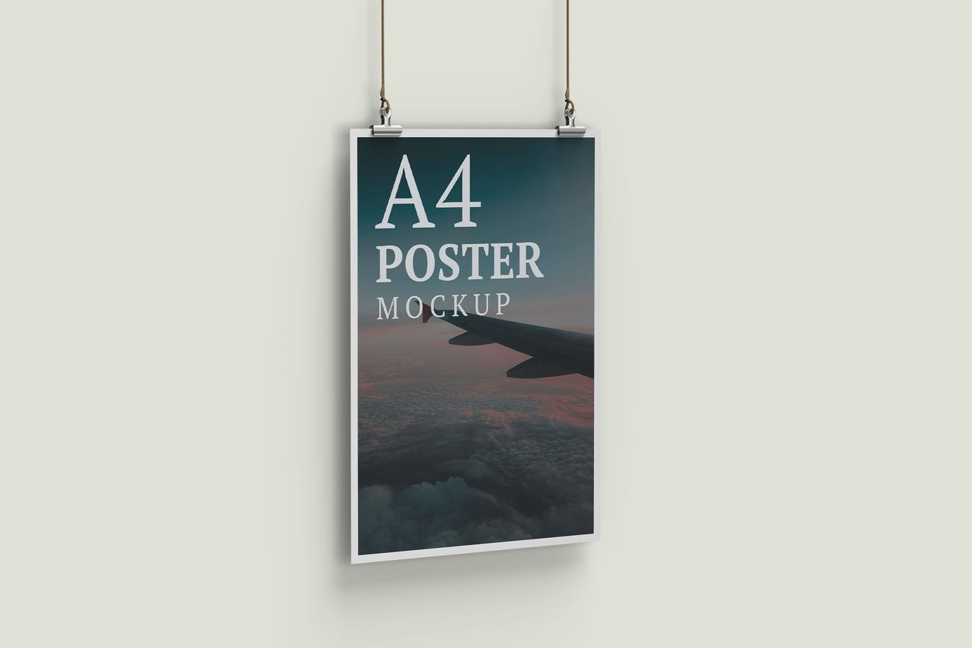 A4 Poster Mockup Left View