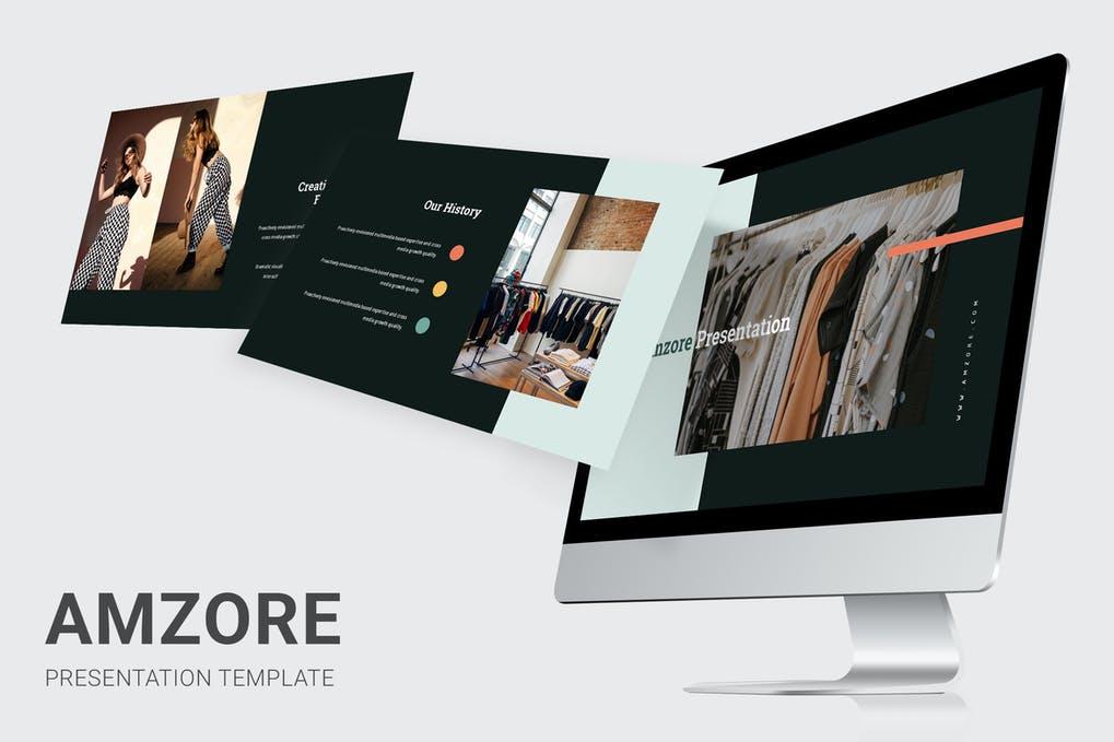 Amzore - Boutique Pitch Deck Powerpoint