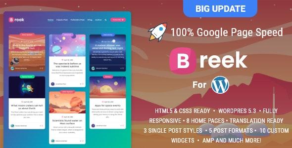 Breek - Minimal Masonry Theme for WordPress