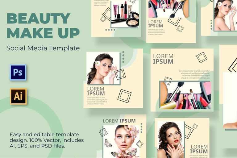 Brush Make Up Social Media Template