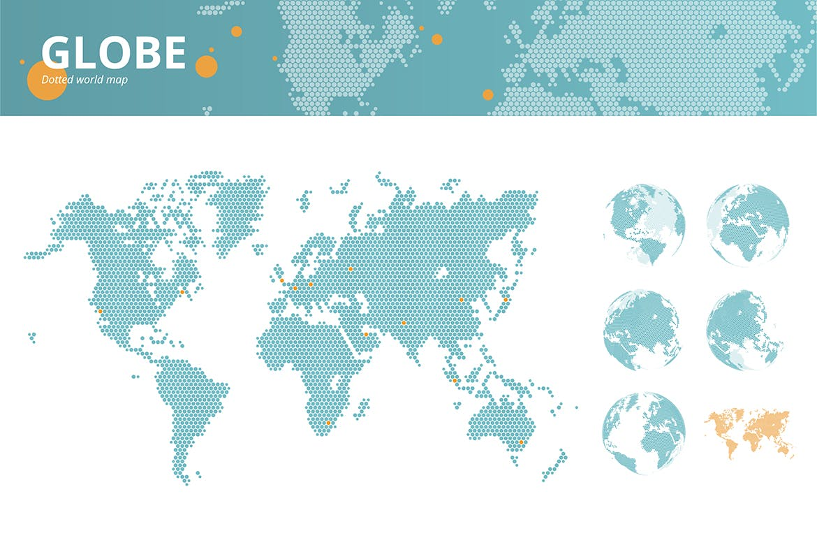 Business dotted world map