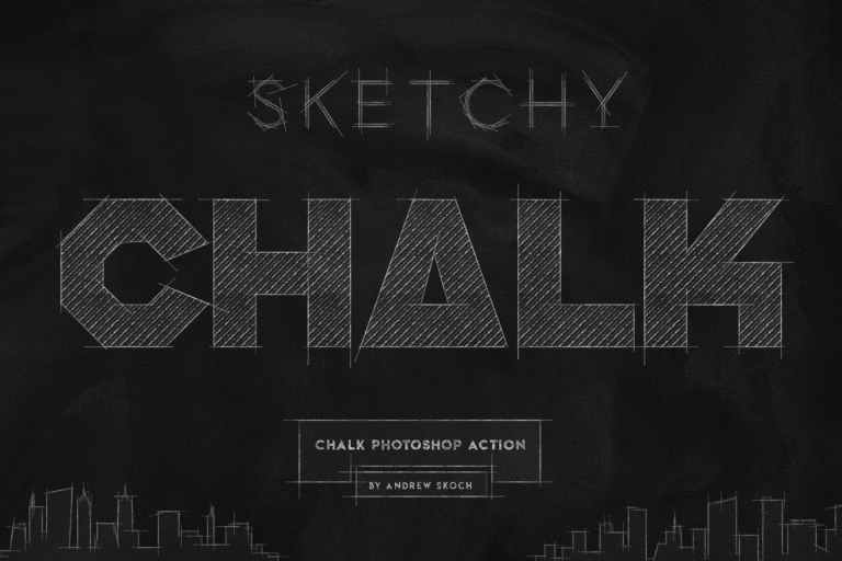 Chalk Lettering - Photoshop Action