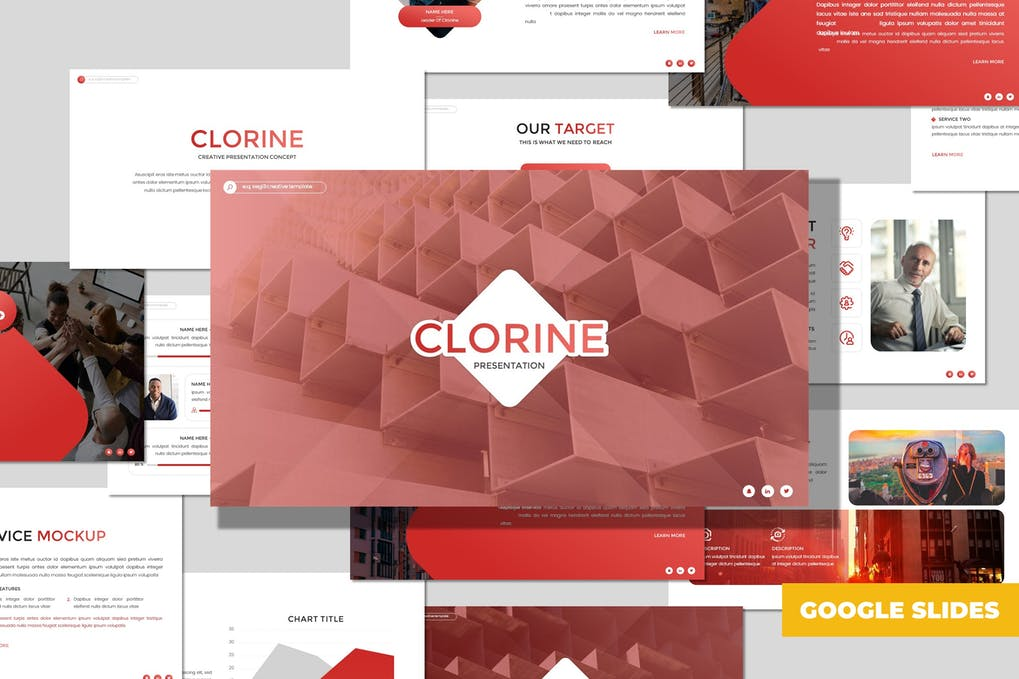 Clorine - Multipurpose Google Sildes Template