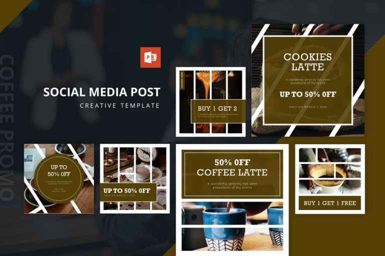 Coffee Promo Instagram Feed Powerpoint Template