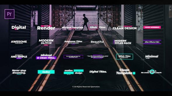 Digital Glitch Titles For Premiere Pro
