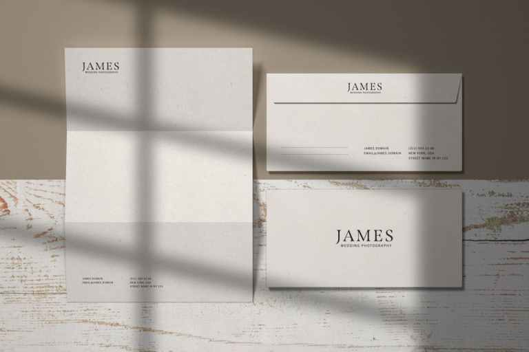 Envelope and Letterhead Stationery Branding Mockup