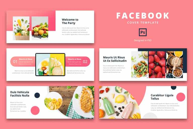 Facebook Cover Template Fresh Food