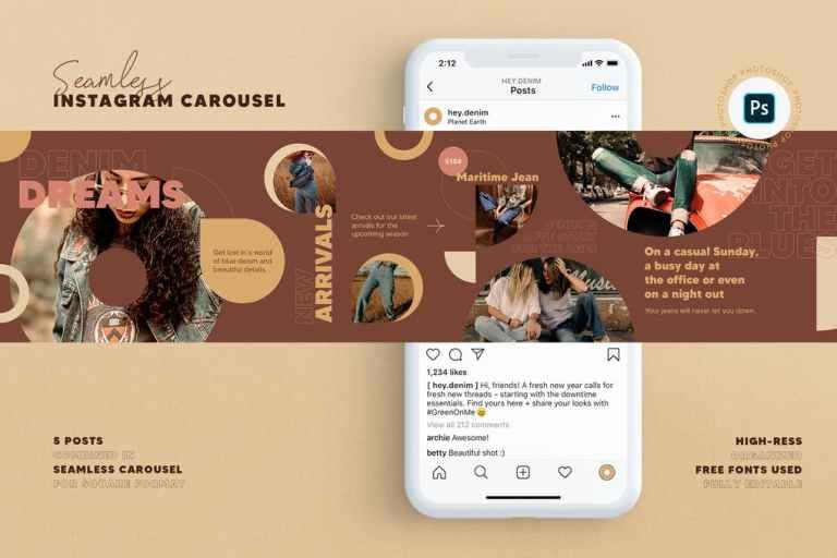 Fashion Store Instagram Carousel