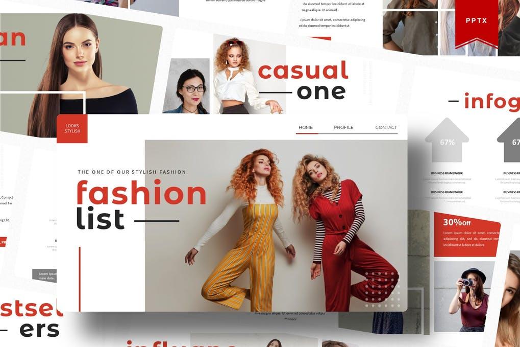 Fashionlist   Powerpoint Template