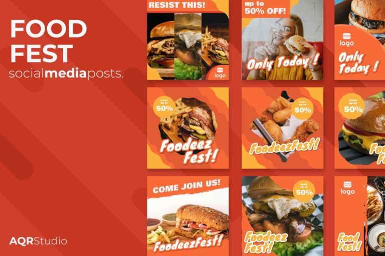 Food Fest Social Media Posts