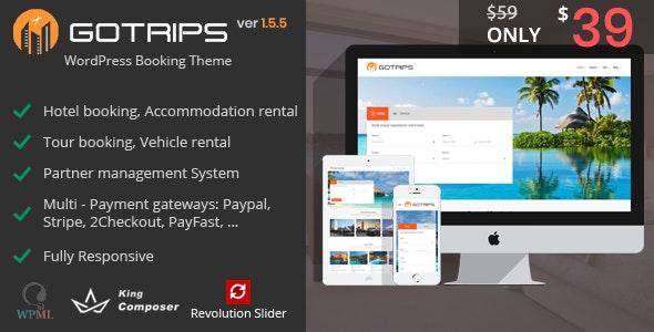 Gotrips - WordPress Travel Booking Theme
