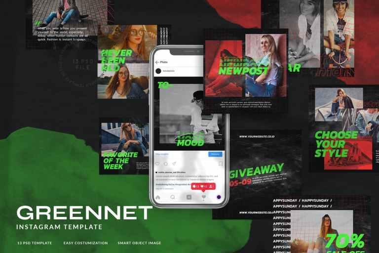 Greennet Instagram Stories Fashion Streetwear