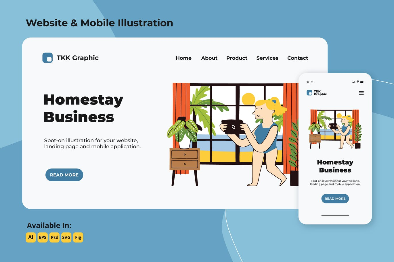 Homestay business in summer web and mobile