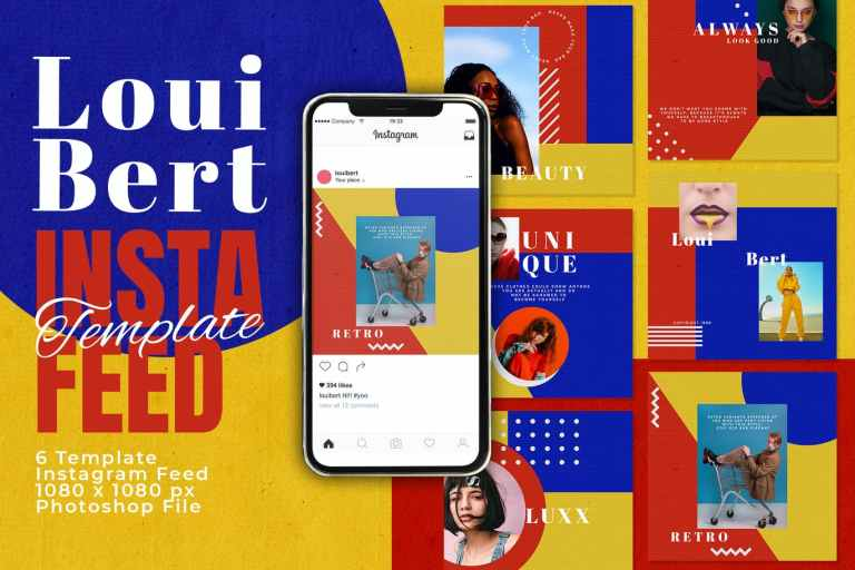 Modern Colorful Instagram Feed Post Template