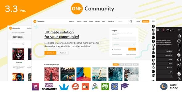 OneCommunity v3.6.2.1 - BuddyPress WordPress Community Theme