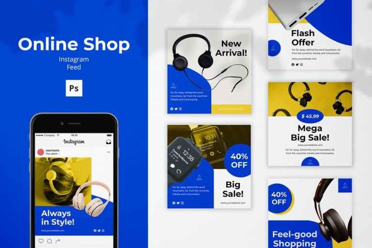 Online Shop Instagram Feed Post