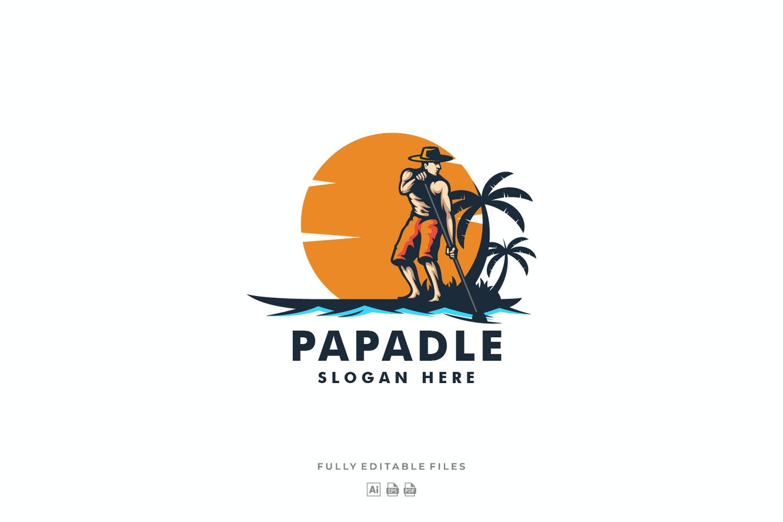 Paddle Mascot Cartoon Logo