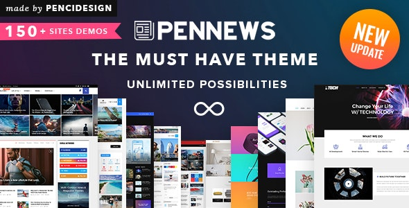 PenNews v6.5.7 NULLED - Universal WordPress Template