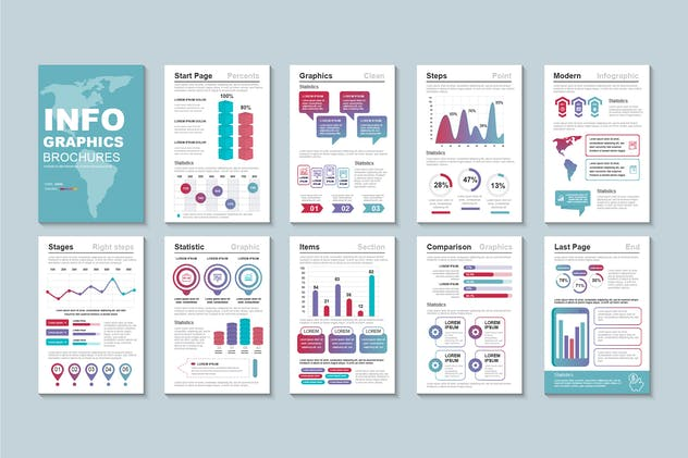 Presentation Infographic Brochure Template