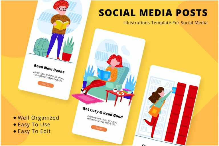 Read Book Social Media Template