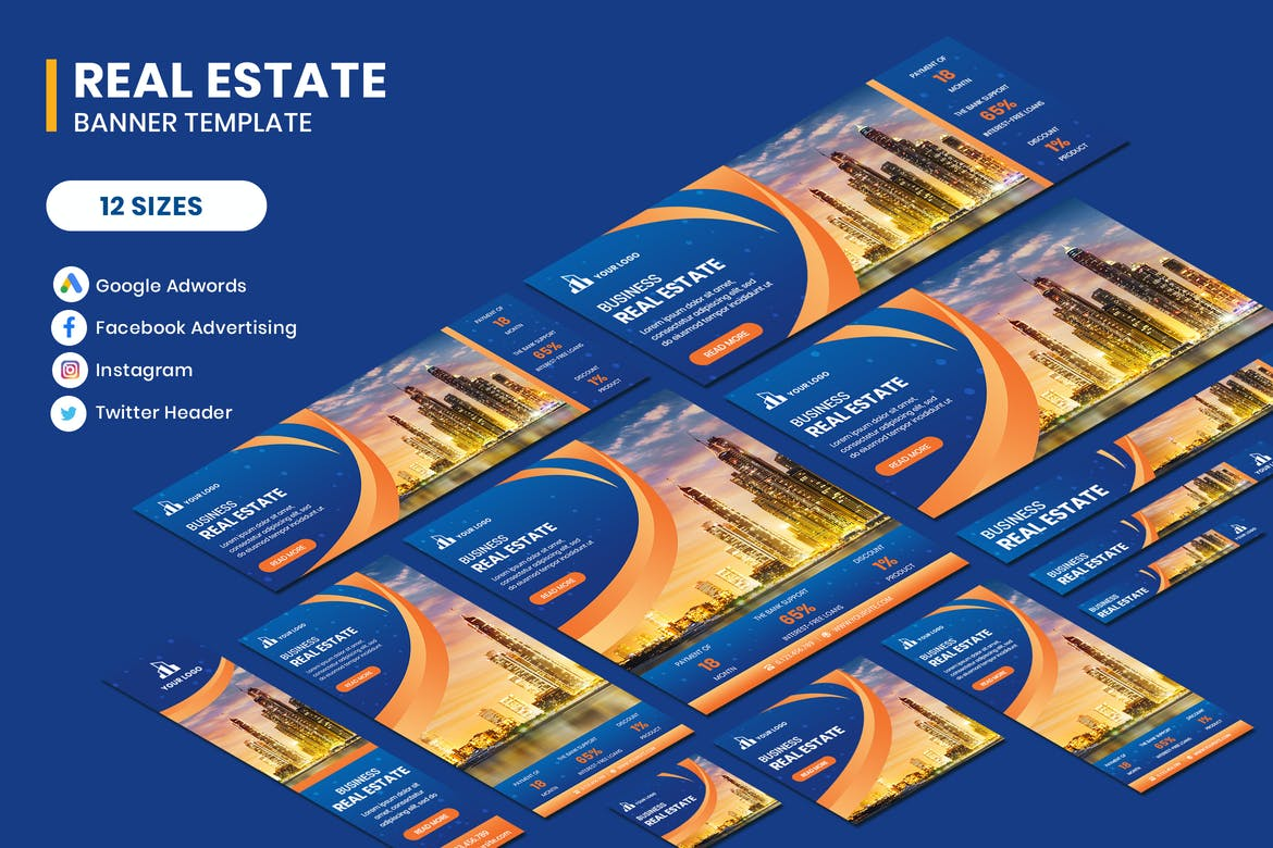 Real Estate Google Adwords Banner Template