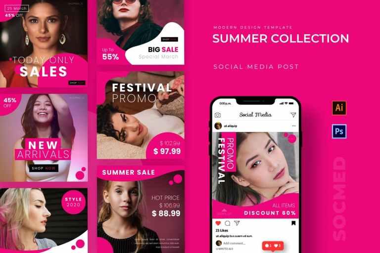 Summer Collection Instagram Post