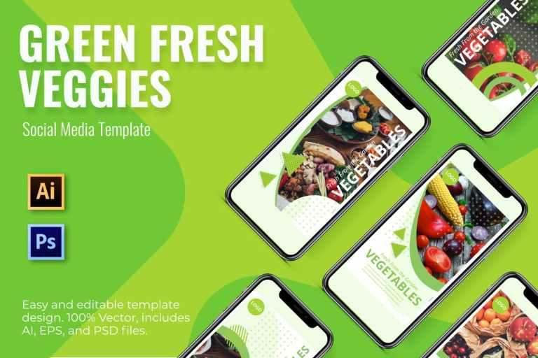 Vegetables Social Media Template