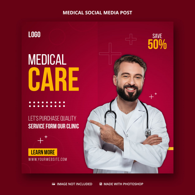 Healthcare and medical social media post,instagram post template