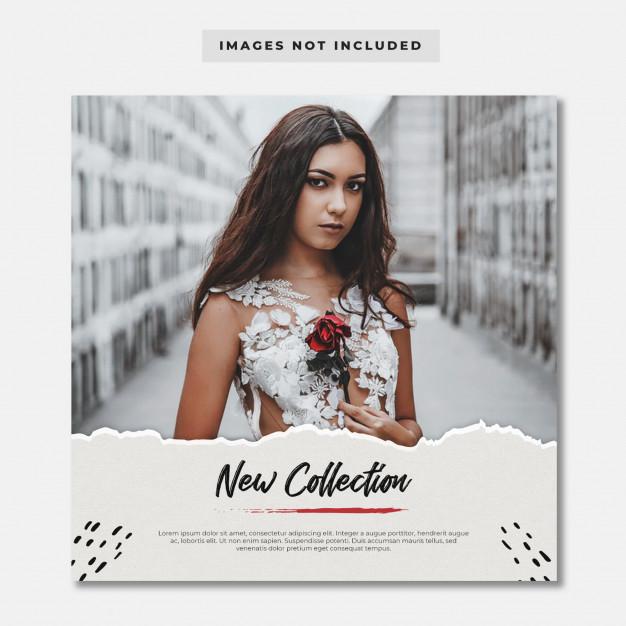 Minimalist fashion post template