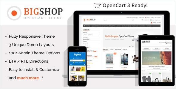 Bigshop v2.7 - multipurpose e-commerce template for OpenCart