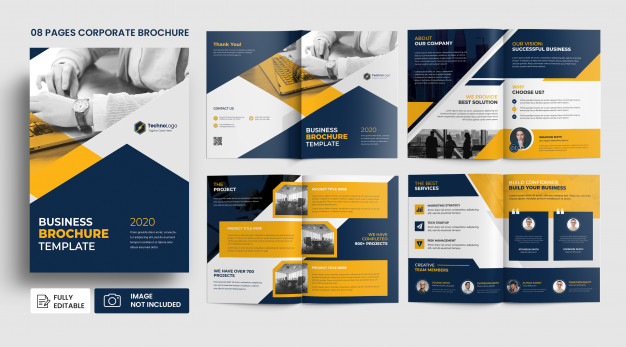 business profile pages brochure template